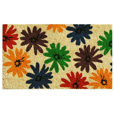 Colorful Daisies Doormat