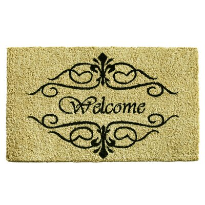 Classic Welcome Doormat Mat Size: Rectangle 15 x 25