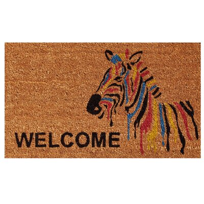 Zebra Welcome Doormat