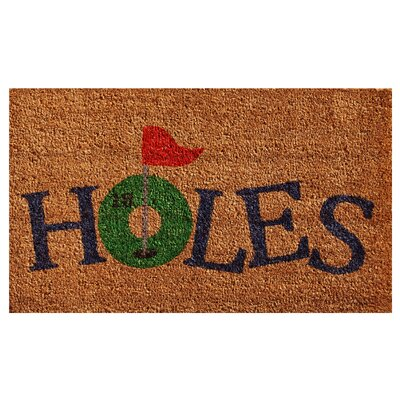 18 Holes Doormat Mat Size: Rectangle 15 x 25