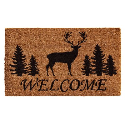 Alaimo Elk Forest Welcome Doormat Rug Size: Rectangle 2 x 3