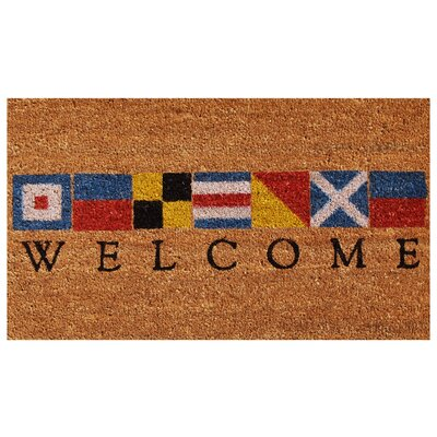 Platanissos Welcome Doormat Rug Size: Rectangle 36L x 24