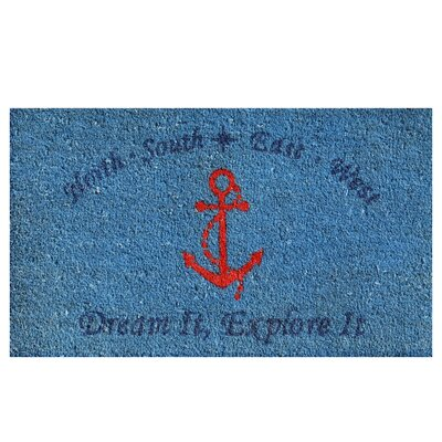 Anchor Doormat Rug Size: Rectangle 2 x 3