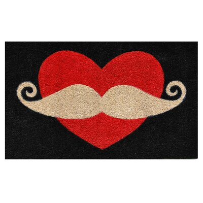 Moustache Love Doormat