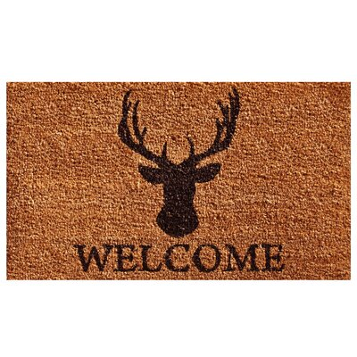 Gilpatrick Deer Welcome Doormat Mat Size: Rectangle 15 x 25