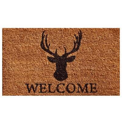 Gilpatrick Deer Welcome Doormat Rug Size: 2 x 3