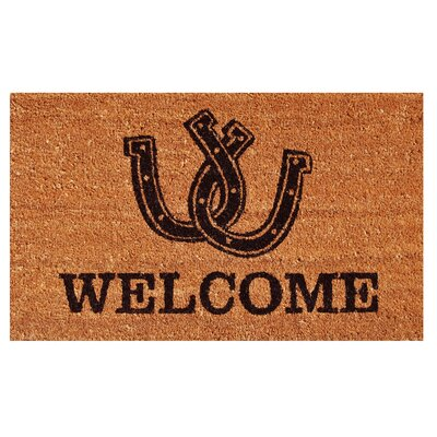 Horseshoe Welcome Doormat