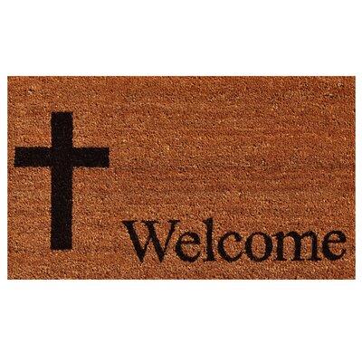 Cross Welcome Doormat
