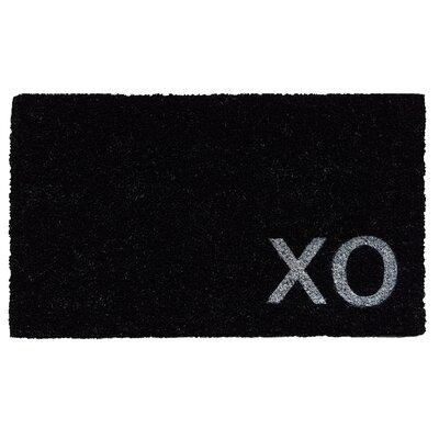 XO Doormat Color: Black