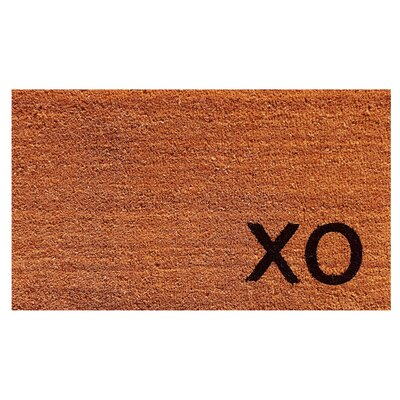 XO Doormat Color: Natural