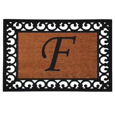 Glenview Monogram Insert Doormat Letter: F