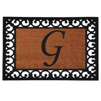 Monogram Insert Doormat Letter: G