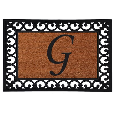 Glenview Monogram Insert Doormat Letter: G