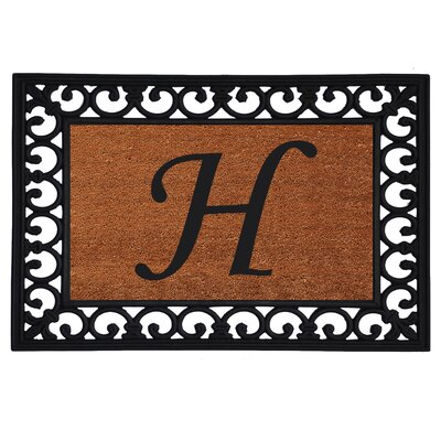 Glenview Monogram Insert Doormat Letter: H