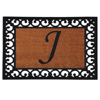 Monogram Insert Doormat Letter: J