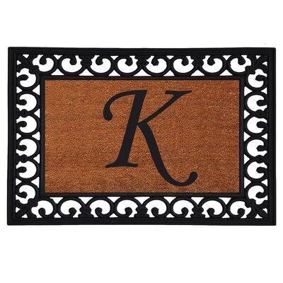 Glenview Monogram Insert Doormat Letter: K