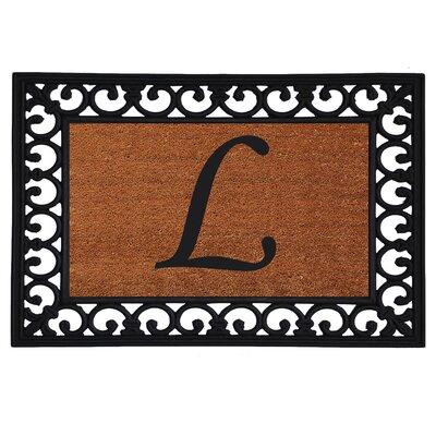 Glenview Monogram Insert Doormat Letter: L