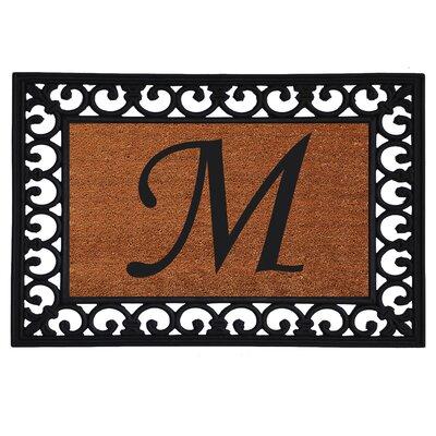 Glenview Monogram Insert Doormat Letter: M