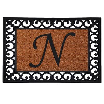Monogram Insert Doormat Letter: N