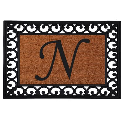 Glenview Monogram Insert Doormat Letter: N