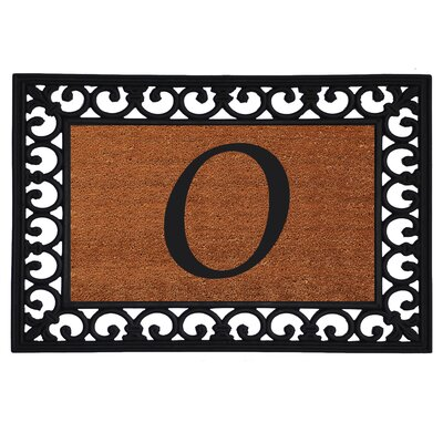 Monogram Insert Doormat Letter: O