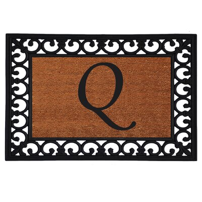 Glenview Monogram Insert Doormat Letter: Q