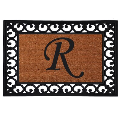 Monogram Insert Doormat Letter: R