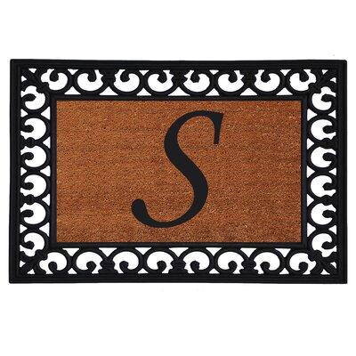 Monogram Insert Doormat Letter: S