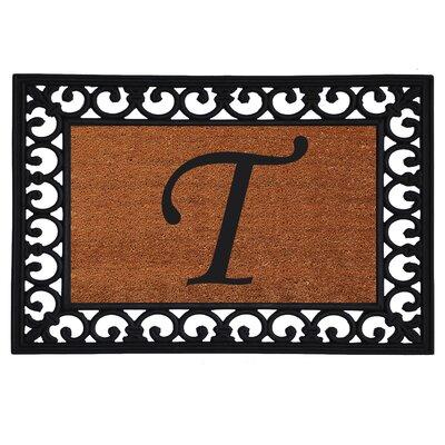 Glenview Monogram Insert Doormat Letter: T