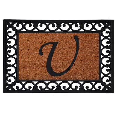 Glenview Monogram Insert Doormat Letter: U