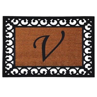 Glenview Monogram Insert Doormat Letter: V
