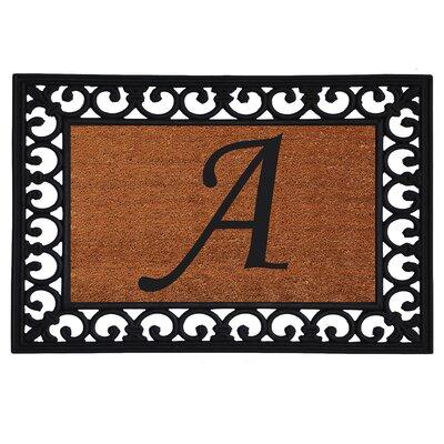 Glenview Monogram Insert Doormat Letter: A