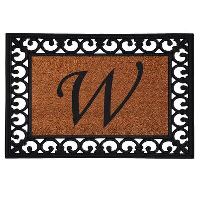 Glenview Monogram Insert Doormat Letter: W