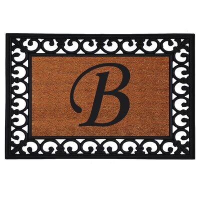 Monogram Insert Doormat Letter: B