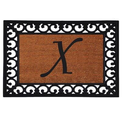 Monogram Insert Doormat Letter: X