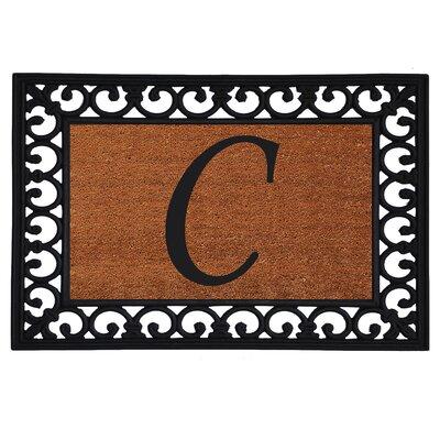 Monogram Insert Doormat Letter: C