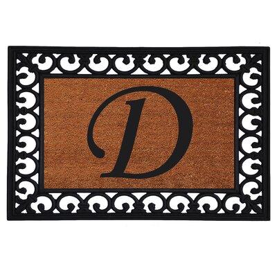 Monogram Insert Doormat Letter: D