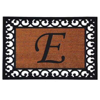 Glenview Monogram Insert Doormat Letter: E