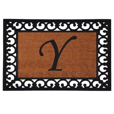 Glenview Monogram Insert Doormat Letter: Y