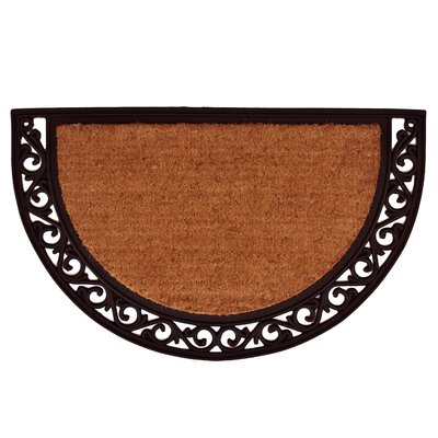 Ornate Scroll Doormat Rug Size: 2 x 3