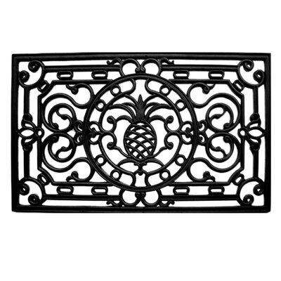 Pineapple Heritage Doormat Rug Size: 16 x 26