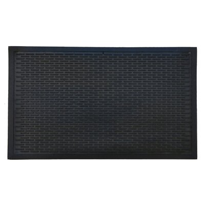 Rubber Ridge Scraper Doormat Mat Size: Rectangle 110 x 210