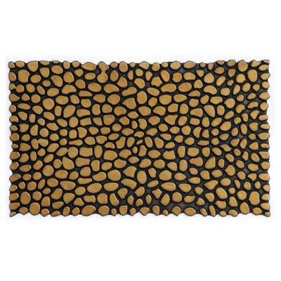 Pebbles Rubber Utility Mat Color: Gold