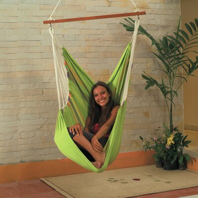 Cotton Chair Hammock Color: Green