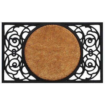 Armada Circle Doormat Rug Size: 16 x 26