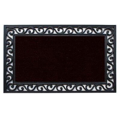 Midnight Doormat Rug Size: 16 x 26