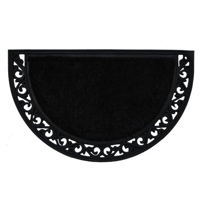 Black Arch Doormat Mat Size: Semi-Circle 2 x 3