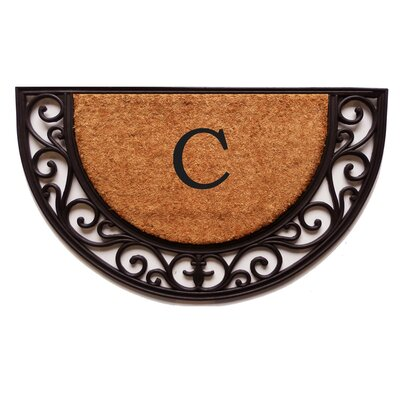 Plantation Monogram Doormat Letter: C