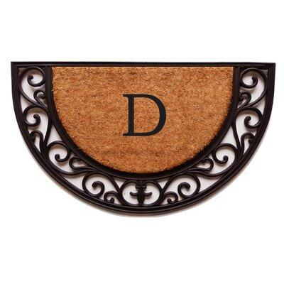 Plantation Monogram Doormat Letter: D