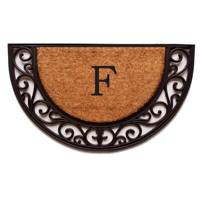 Plantation Monogram Doormat Letter: F
